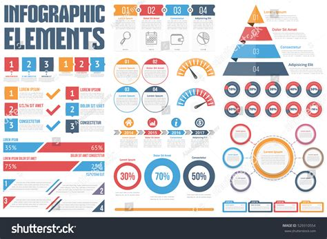 infographic and diagram design elements vector infographic elements process infographics steps options