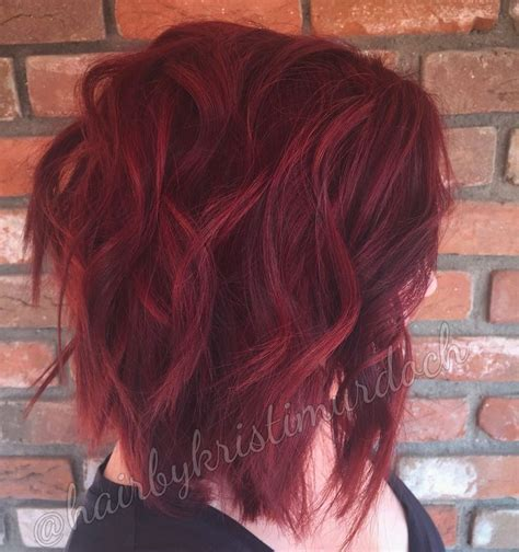 cut curl hair with cherry red colour 25 best ideas about vibrant red hair on pinterest ruby
