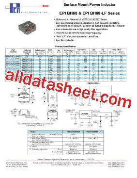 inductor l38 lm267x l38 datasheet pdf pca electronics inc