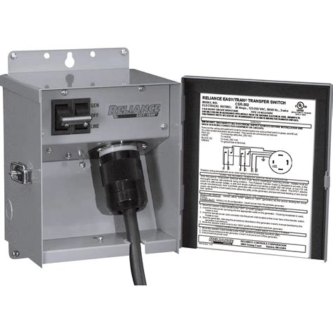 reliance generator transfer switch single circuit 7500w csr302 what s it worth