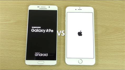 samsung a9 samsung galaxy a9 vs iphone 6s plus speed test