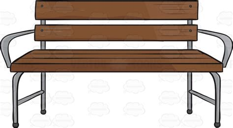 bench emoji wooden bench with silver arms and legs cartoon clipart