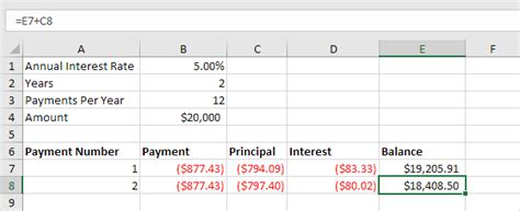mortgage payment table spreadsheet laobingkaisuo com