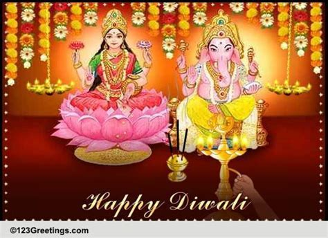 Diwali Virtual Puja! Free Virtual Aarti eCards, Greeting