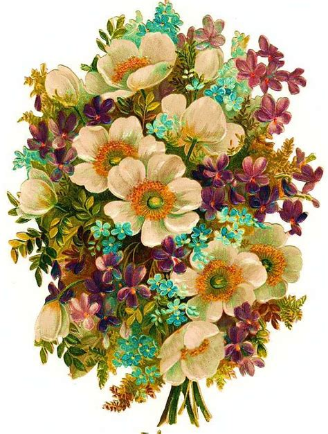 Printable Victorian Flowers | free victorian flowers and vintage fruit clip art and borders