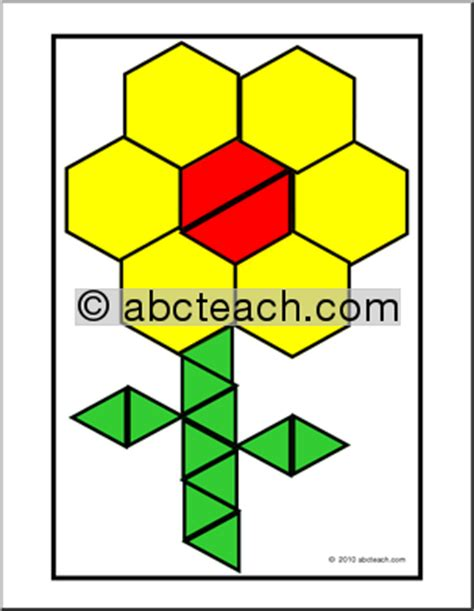 pattern block cards search results for printable pattern block shape