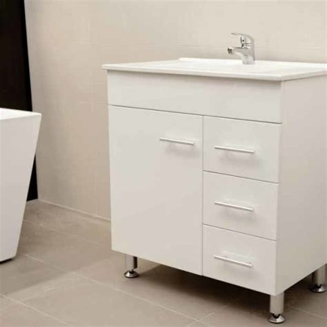 Metal Leg Bathroom Vanity Artemis Wpl750r 750mm Polyurethane Bathroom Vanity Unit With Ceramic Basin On Metal Legs
