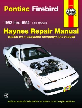 manual repair autos 1967 pontiac firebird free book repair manuals pontiac firebird 82 92 haynes repair manual haynes manuals