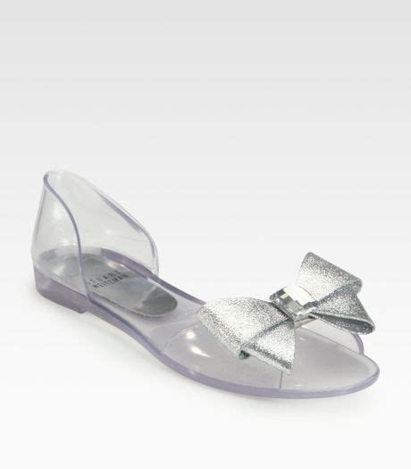 stuart weitzman jelly sandals stuart weitzman gemini jeweled bow jelly sandals in clear