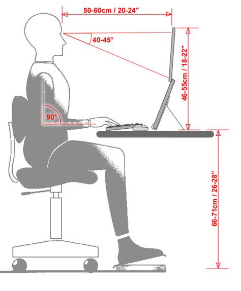 ergonomics what s the ideal height for a laptop desk quora