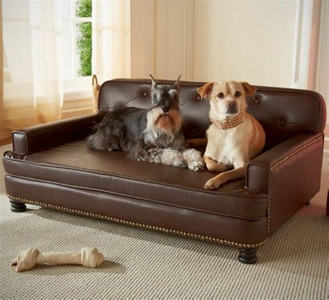 leather sofa durable dogs fancy library pet bed