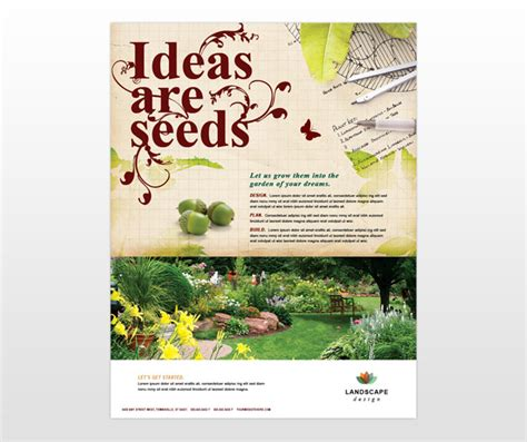landscape flyer templates landscape design services company flyer templates