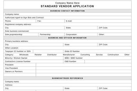 Supplier Credit Application Template Procedures For Small Business Checklist