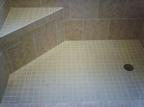 shower bench tile wendie labella on pinterest