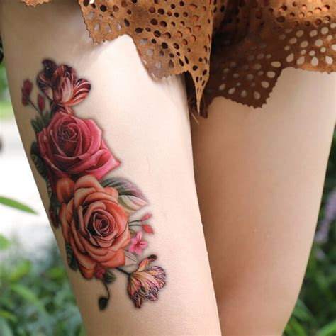 temporary tattoos rose popular temporary thigh tattoos buy cheap temporary thigh