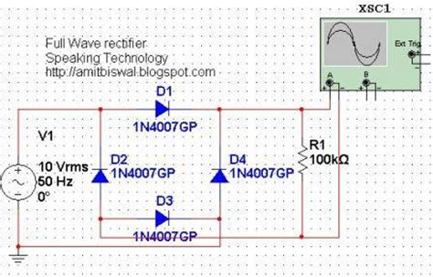 rectifier circuit lab wave bridge rectifier circuit multisim simulation speaking technology business