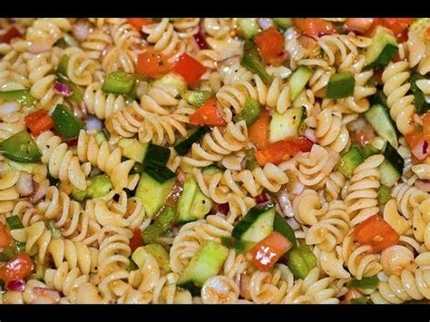 cold pasta salad with italian dressing italian dressing pasta salad healthy dish how to make