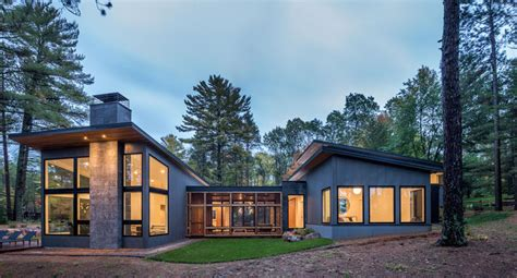 Modern Lake House Plans by Northern Minnesota Lake House By Strand Design Contemporist