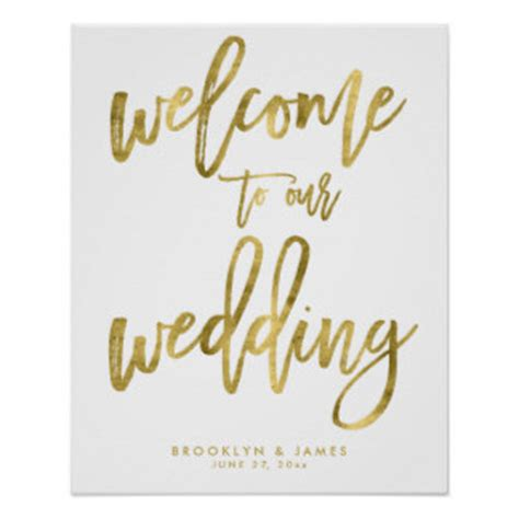 Welcome To Our Wedding Art Posters Framed Artwork Zazzle Co Nz Welcome To Our Wedding Template Free