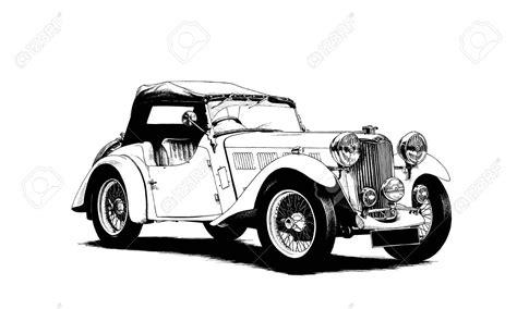 Auto Gemalt by Retro Auto Gemalt Tinte Schwarz Und Wei 223 Lizenzfreie Fotos