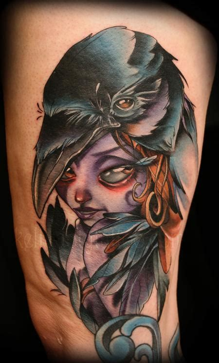 tattoo new school crow crow raven tattoos inspiring tattoos
