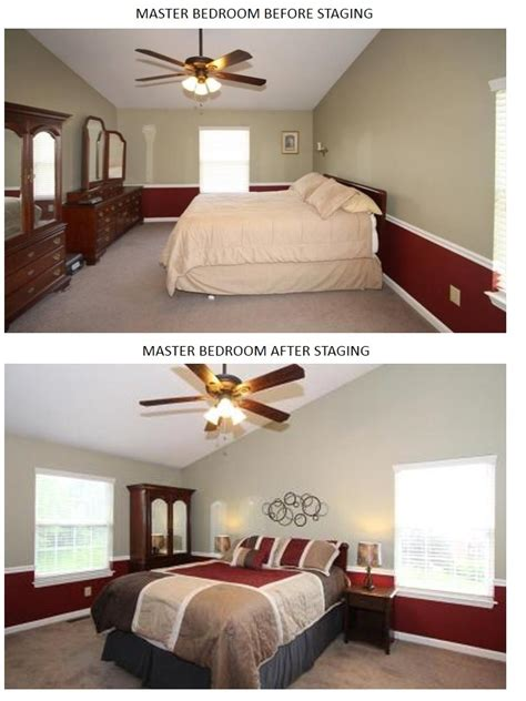 staging master bedroom staging
