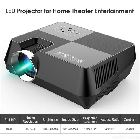 gt s8 led 1080p projector home theater design features