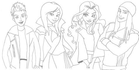 descendants movie coloring pages dibujos de descendientes para colorear y recortar anime