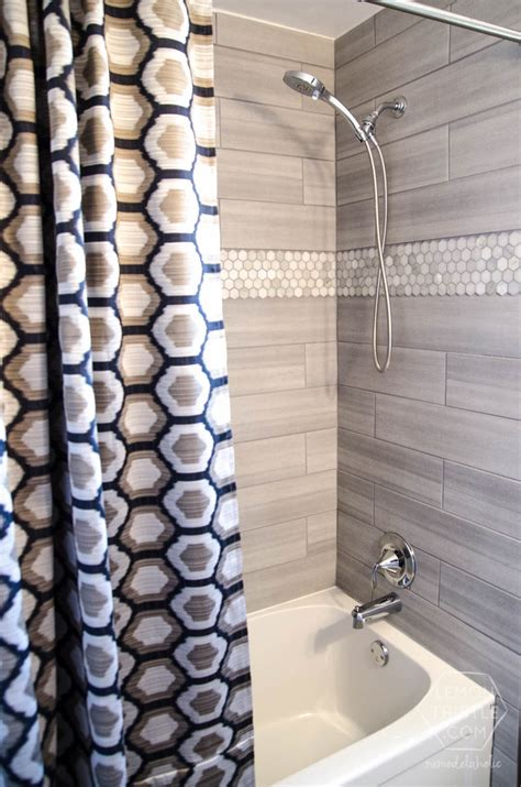 diy bathroom wall tile remodelaholic diy bathroom remodel on a budget and