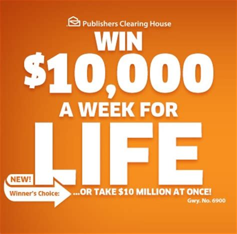 Win For Life Sweepstakes - pch win 10000 a week for life sweepstakes sweeps maniac