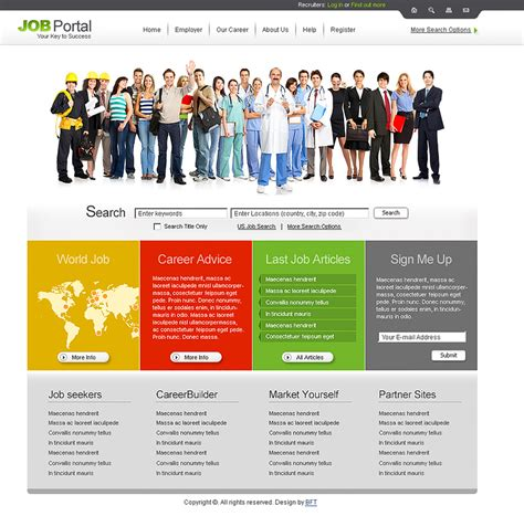 free portal templates free job templates job search template
