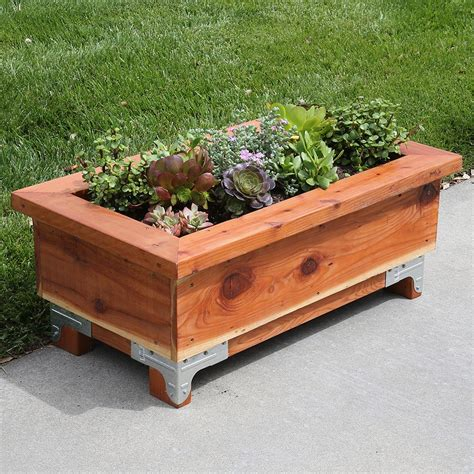 wood planter box diy
