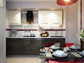 Modern Kitchen Decor by Red White Black Modern Kitchen Dining Decor Style Olpos