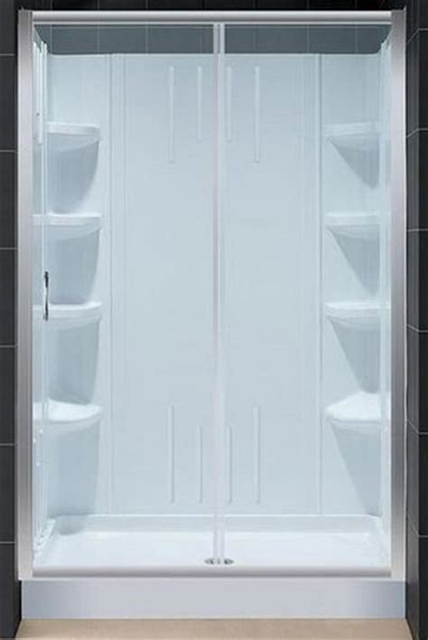 Infinity Shower Door Dreamline Dl 6101c 04cl Infinity Shower Door With Clear Glass 48 Quot X 72 Quot With Center Drain 36 Quot X