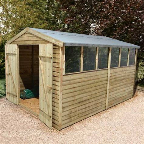 Used Wooden Sheds by 12x8 Pressure Treated Wooden Garden Shed New Un Used 12ft