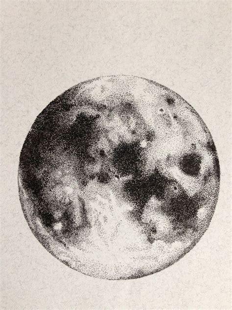 Sketches Moon by Moon Ink Drawing Original Drawing Illustration