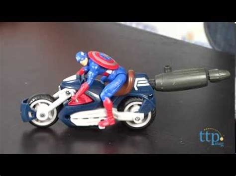 Hasbro Captain America With Blast Cycle Kapten Amerika 1 marvel captain america blast n go assault cycle vehicle