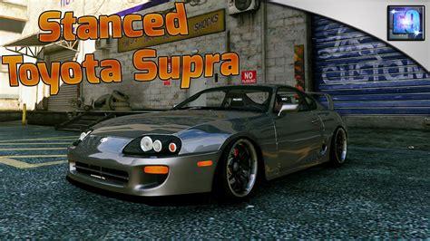 stanced toyota stanced toyota supra drift handling mod gta5 mods com