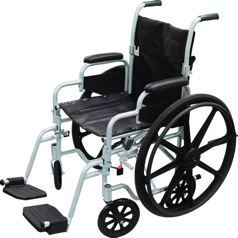 wheel chair poly fly light weight transport chair wheelchair with swing away footrest drive
