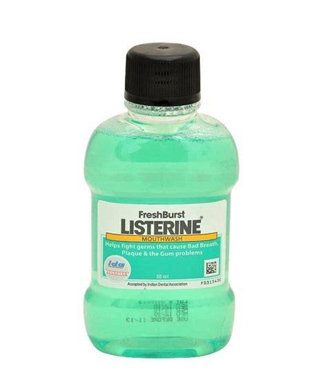 listerine fresh burst mouthwash 80ml