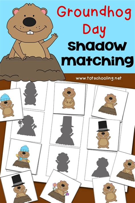 groundhog day house groundhog day shadow matching activity