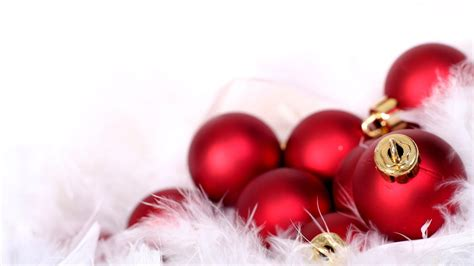 red christmas ornaments wallpaper 8554 1366 x 768