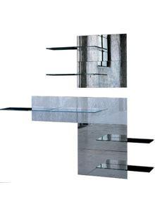 modern wall mounted shelving glas italia fixtrik modern wall mounted shelving unit