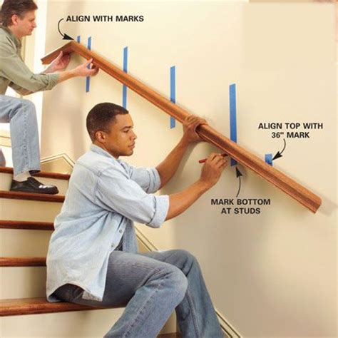 Installing Handrail Best 25 Interior Stair Railing Ideas On Pinterest Diy