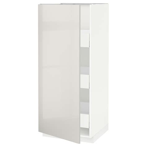 metod maximera high cabinet with drawers white ringhult