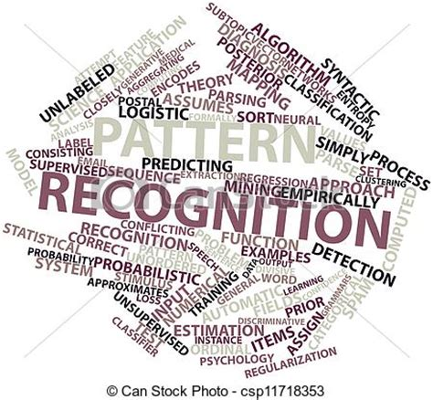 pattern recognition en espanol abstract word cloud for pattern recognition with related