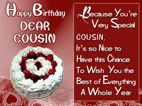 Happy Birthday Cousin Wishes Special Birthday Wishes To Special Cousin Wishbirthday Com