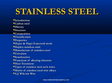 what is stainless steel made from stainless steel certified fixed orthodontic courses by indian