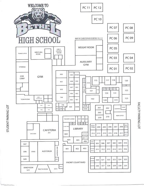 school floor plans floor plan bethel high school