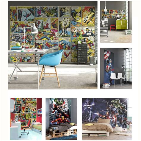 marvel comic bedroom decor marvel comics and avengers wallpaper wall murals d 201 cor